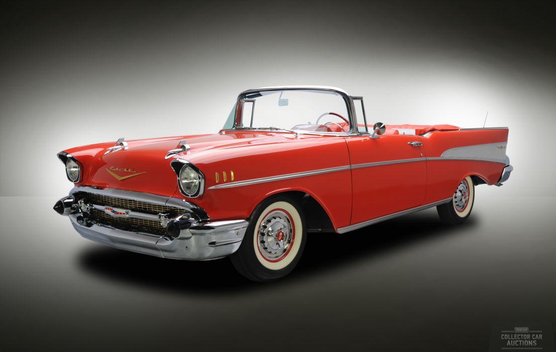 1957 Chevrolet BEL AIR CONVERTIBLE 283 classic cars wallpaper