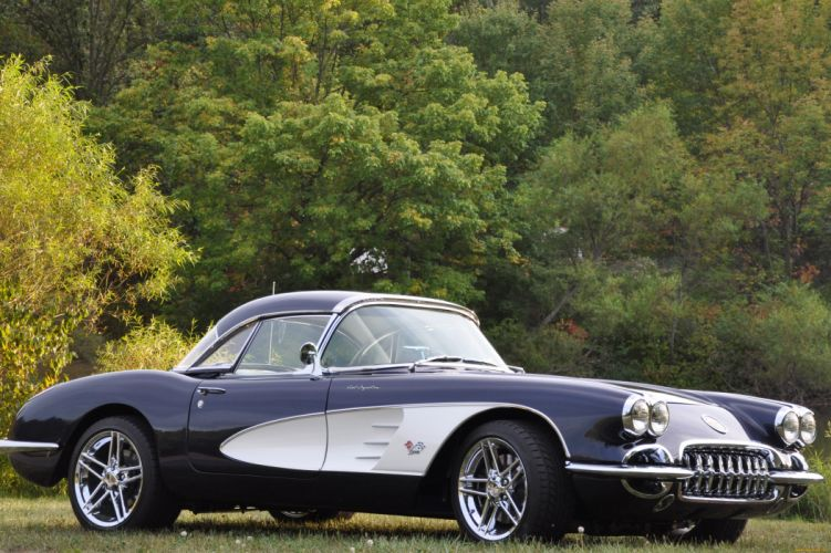 1958 Corvette chevrolet chevy muscle cars hot rods supercar wallpaper