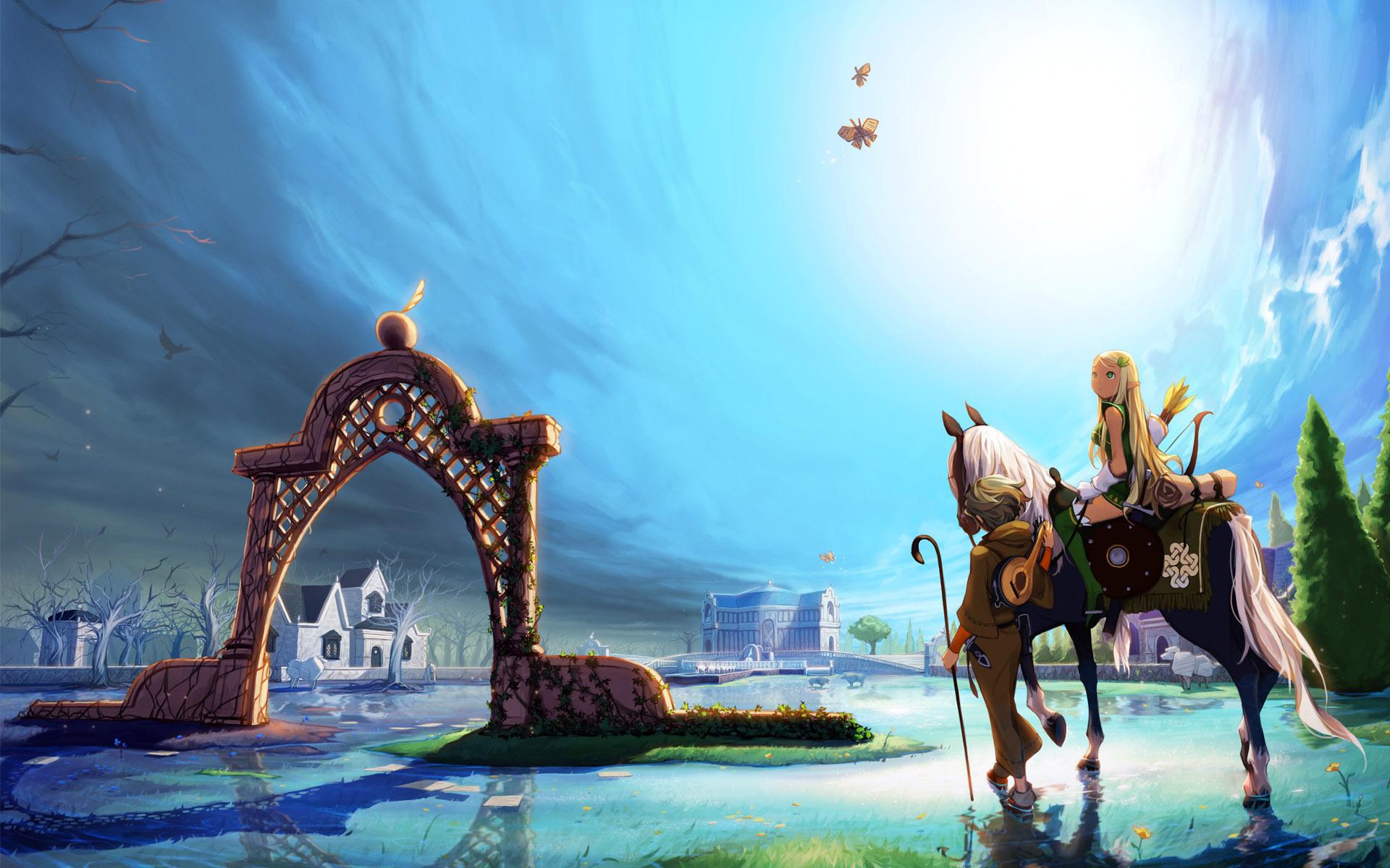 Elf Fantasy Girl Horse
