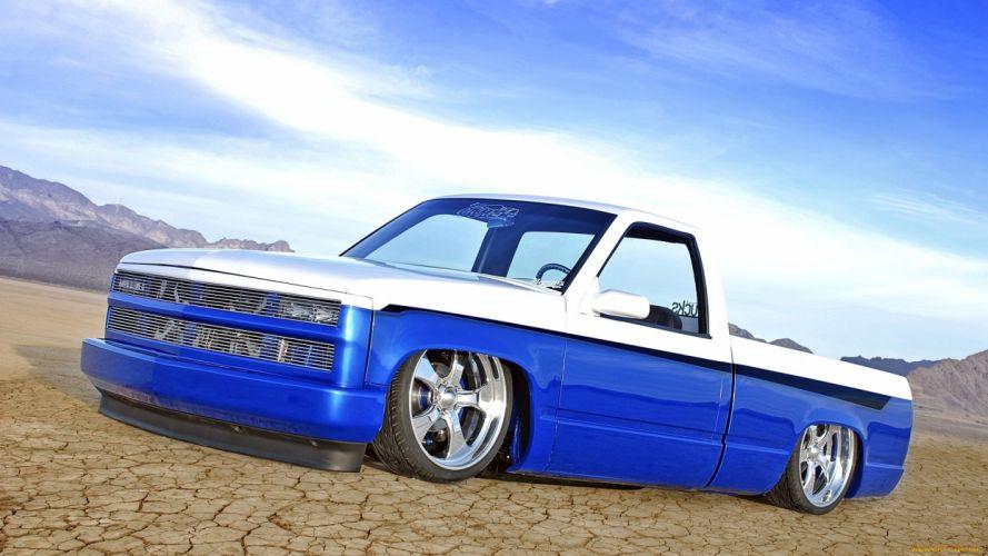 Chevrolet silverado tuning lowrider custom wallpaper