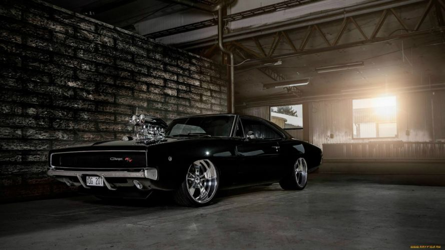 Dodge Charger 1968 muscle cars hot rod engine wallpaper