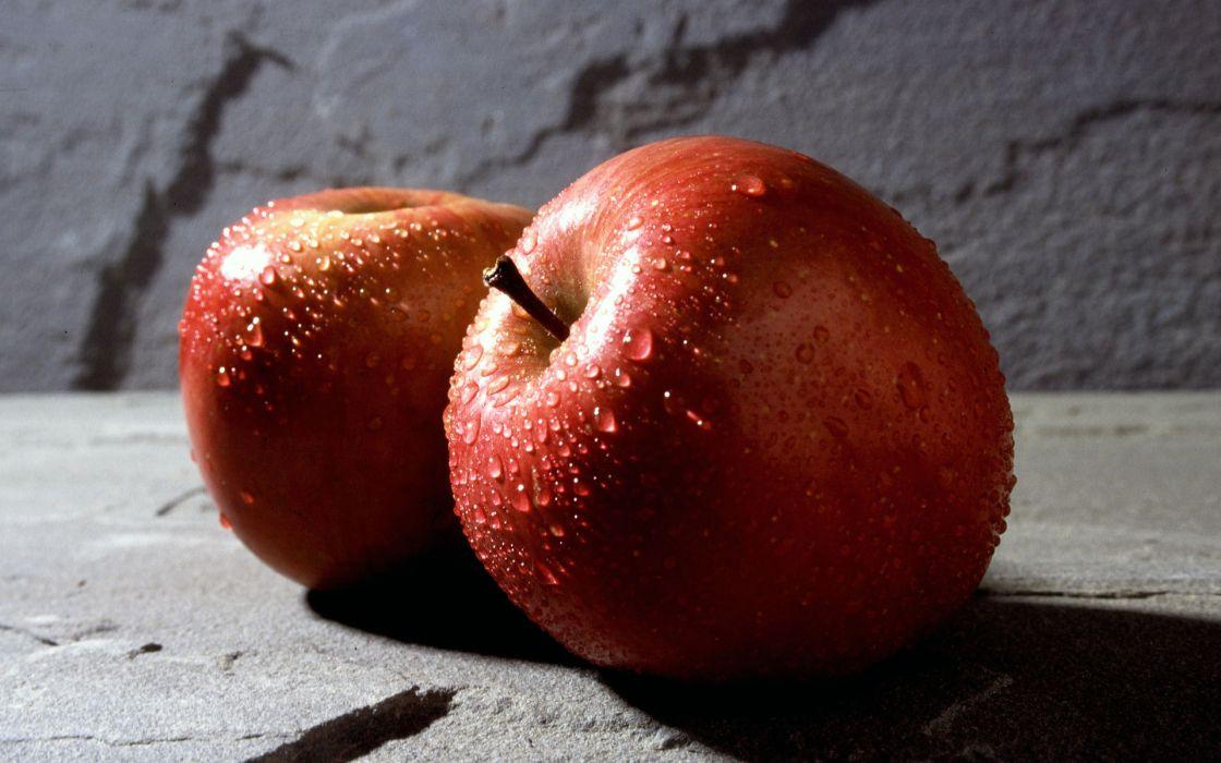 food apples fruits drops water still life wallpaper