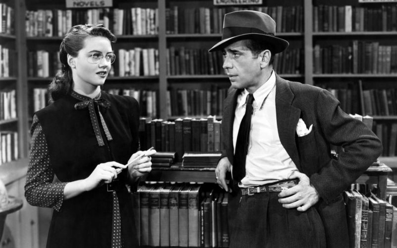 The Big Sleep Dorothy Malone Humphrey Bogart BW black white actress actor women females girls men males wallpaper