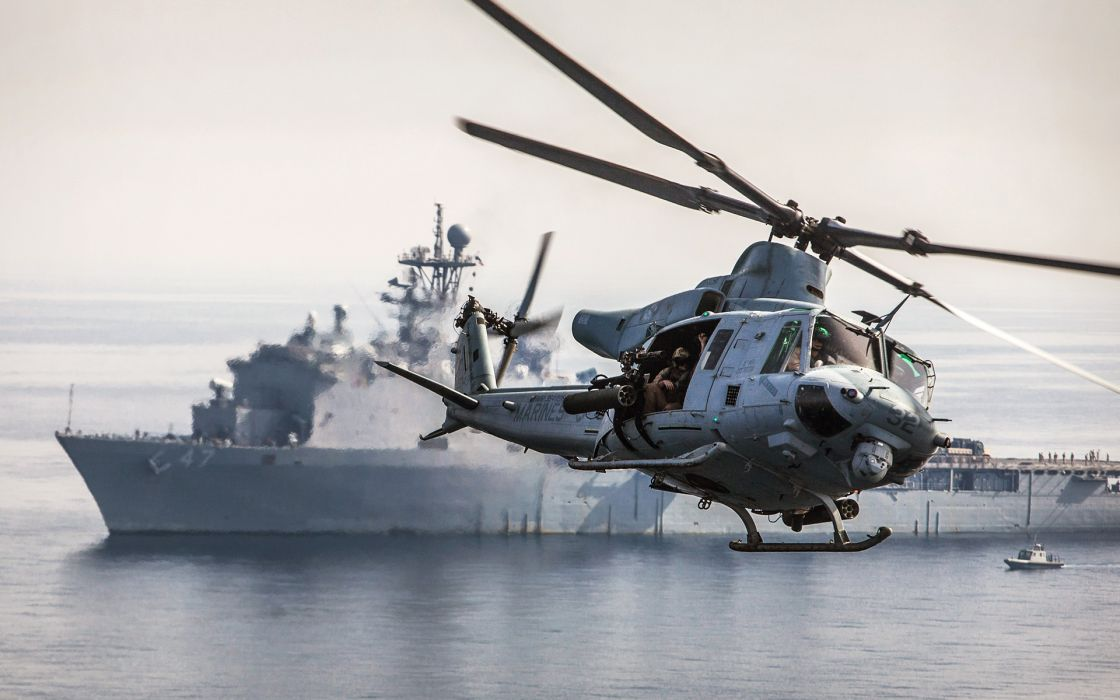 Helicopter Ships boats ocean sea military wallpaper