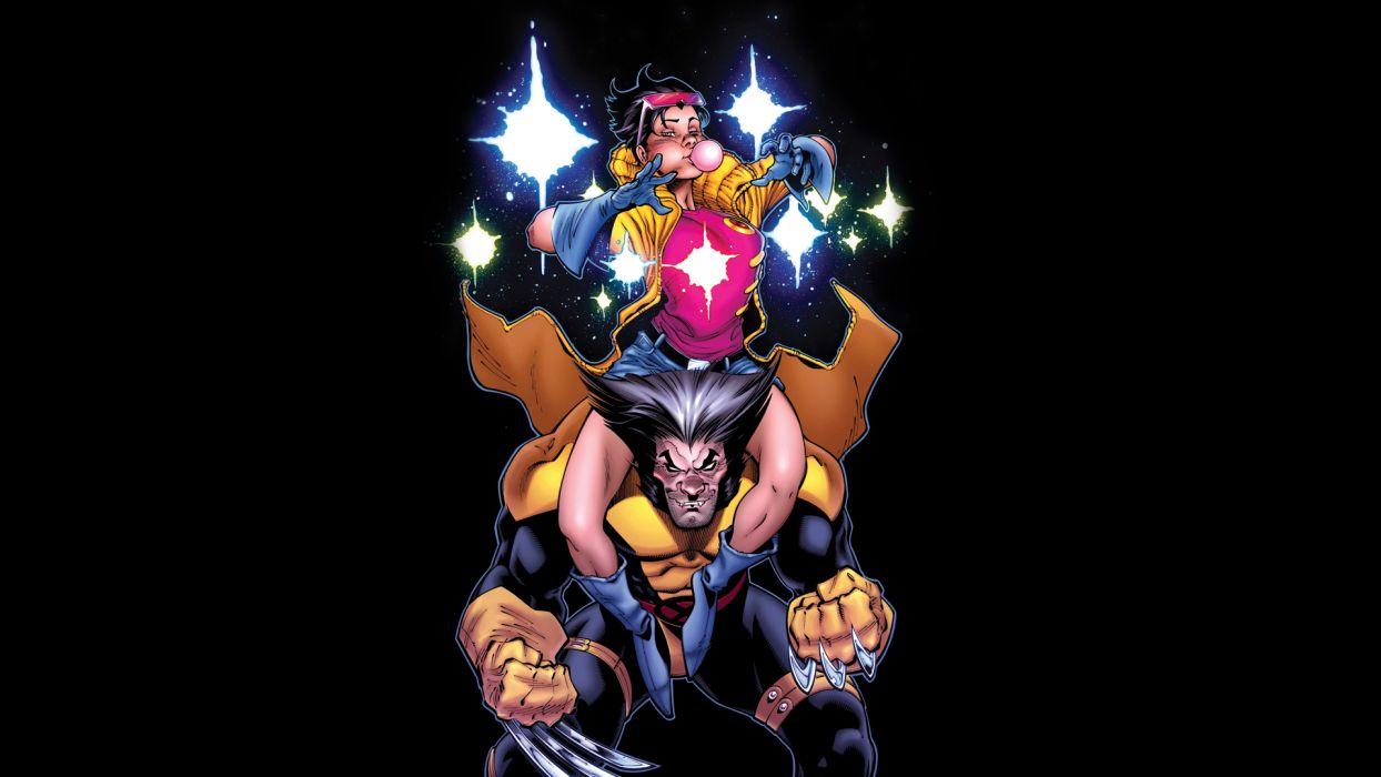 Jubilee Wolverine X Men Black Wallpaper 1920x1080 71535