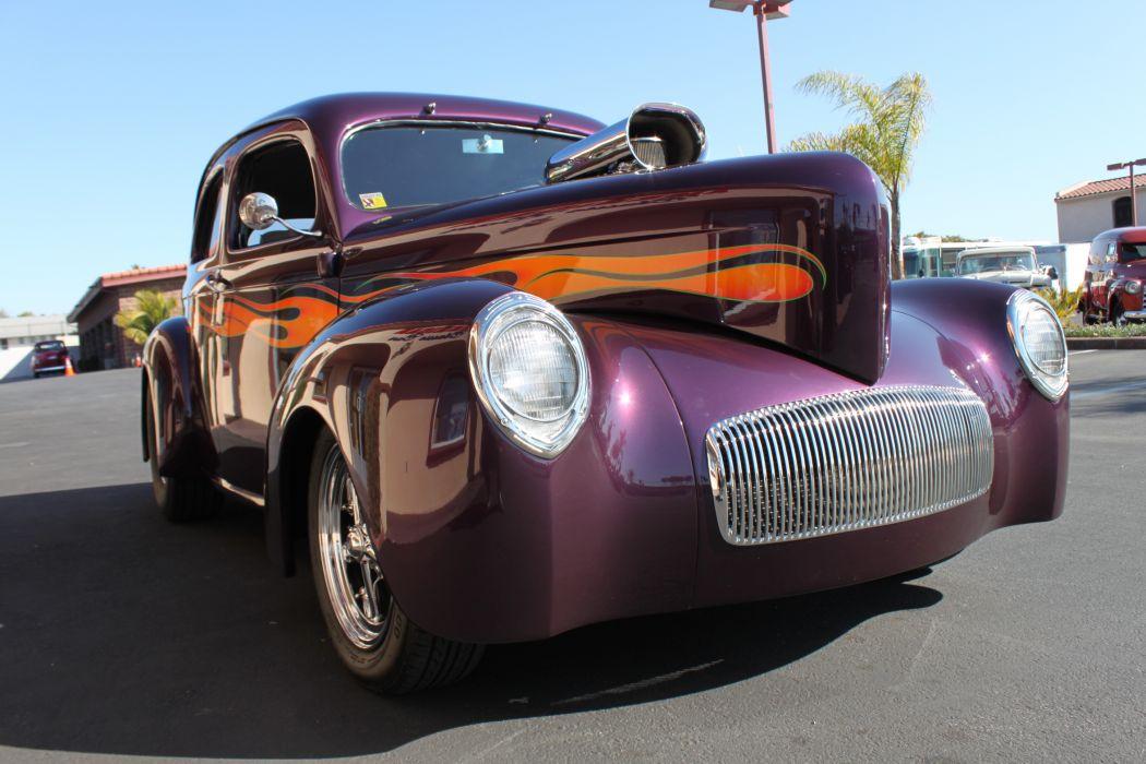 1937 Willys Custom retro classic cars hot rod custom        u_JPG wallpaper
