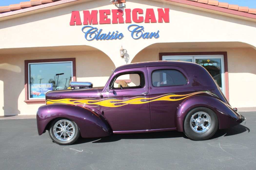 1937 Willys Custom retro classic cars hot rod custom     r_JPG wallpaper