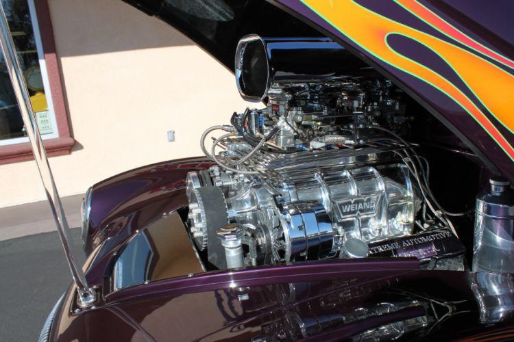 1937 Willys Custom retro classic cars hot rod custom engine f_JPG wallpaper