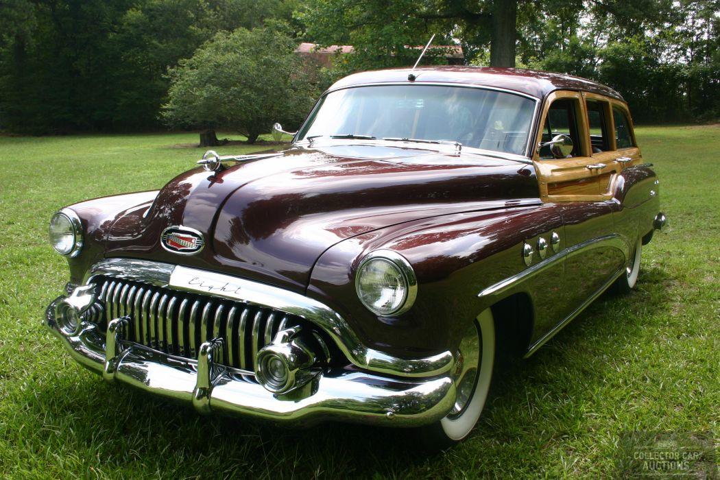 1952 BUICK ESTATE WAGON 263CI STRAIGHT-8 retro classic cars     e wallpaper