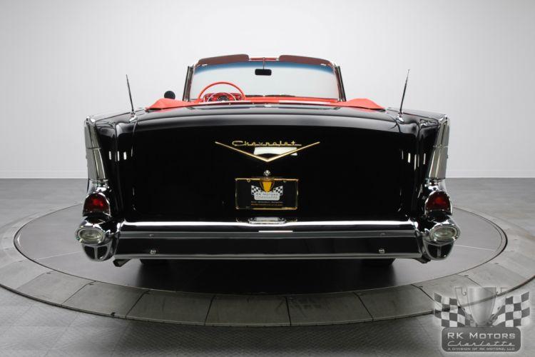 1957 CHEVROLET BEL AIR CONVERTIBLE 283 DUAL QUAD classic cars g wallpaper