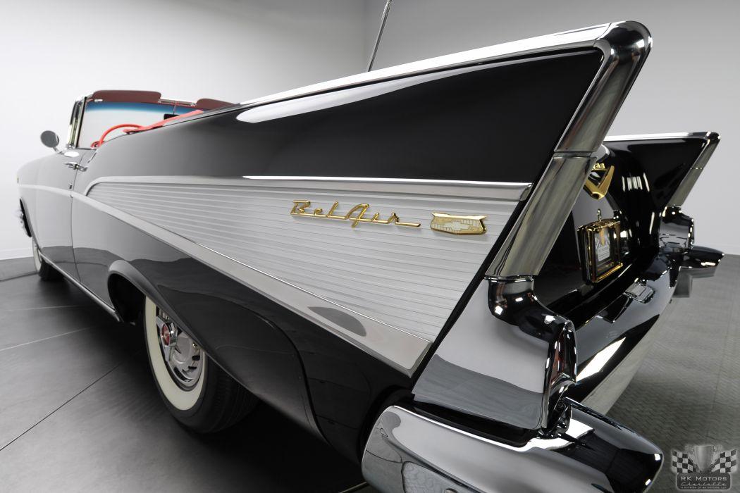 1957 CHEVROLET BEL AIR CONVERTIBLE 283 DUAL QUAD classic cars       l wallpaper