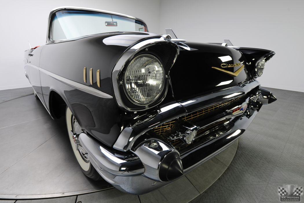 1957 CHEVROLET BEL AIR CONVERTIBLE 283 DUAL QUAD classic cars      a wallpaper
