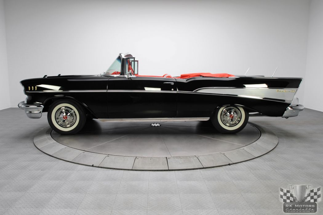1957 CHEVROLET BEL AIR CONVERTIBLE 283 DUAL QUAD classic cars      q wallpaper