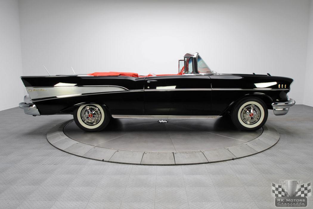 1957 CHEVROLET BEL AIR CONVERTIBLE 283 DUAL QUAD classic cars     d wallpaper