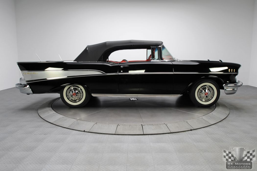 1957 CHEVROLET BEL AIR CONVERTIBLE 283 DUAL QUAD classic cars    c wallpaper