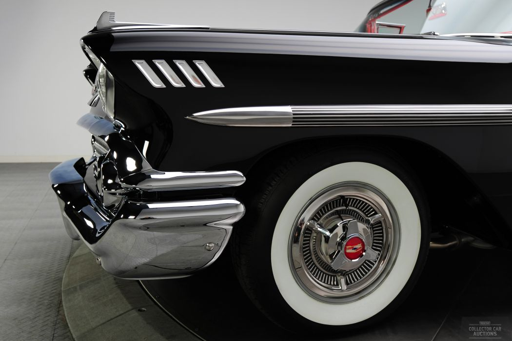 1958 CHEVROLET IMPALA CONVERTIBLE 348 TRI-POWER classic cars        f wallpaper