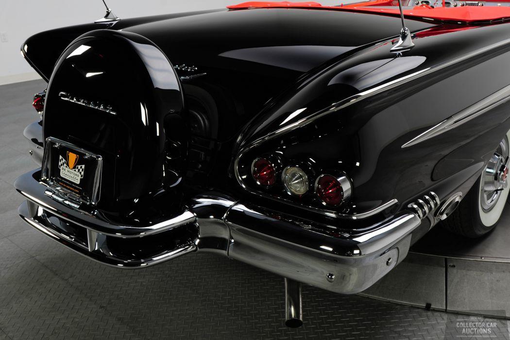 1958 CHEVROLET IMPALA CONVERTIBLE 348 TRI-POWER classic cars        l wallpaper