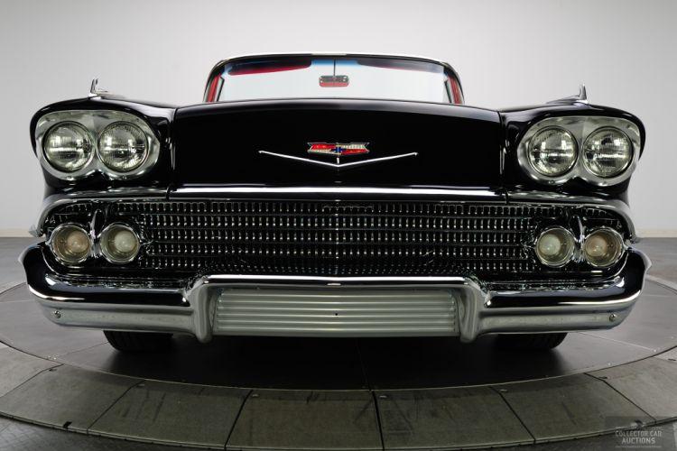 1958 CHEVROLET IMPALA CONVERTIBLE 348 TRI-POWER classic cars a wallpaper