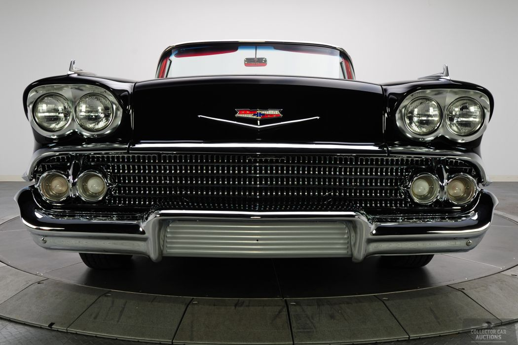 1958 CHEVROLET IMPALA CONVERTIBLE 348 TRI-POWER classic cars        a wallpaper