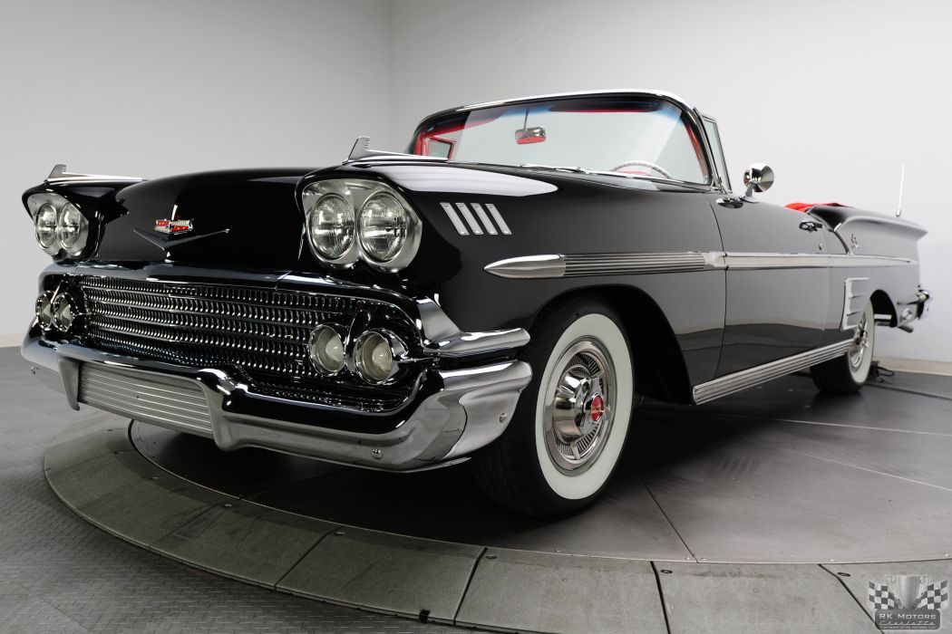 1958 CHEVROLET IMPALA CONVERTIBLE 348 TRI-POWER classic cars        g wallpaper