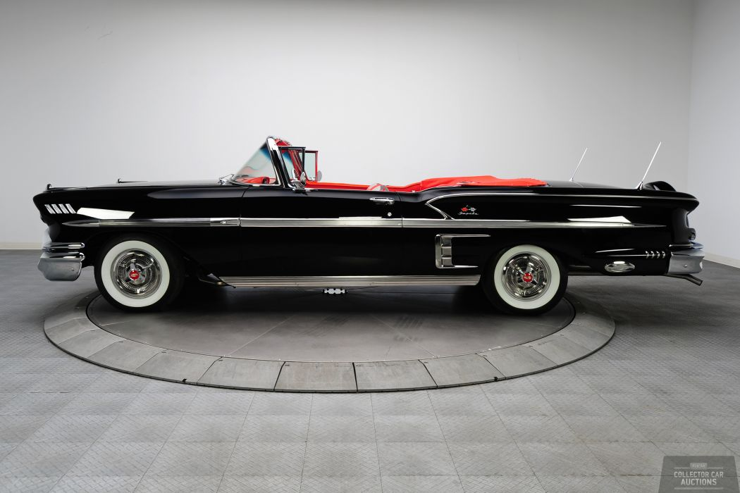 1958 CHEVROLET IMPALA CONVERTIBLE 348 TRI-POWER classic cars      t wallpaper