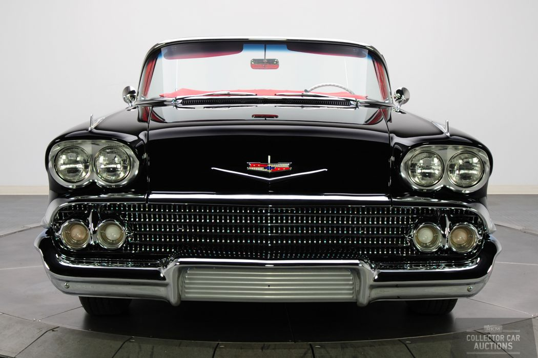 1958 CHEVROLET IMPALA CONVERTIBLE 348 TRI-POWER classic cars      y wallpaper