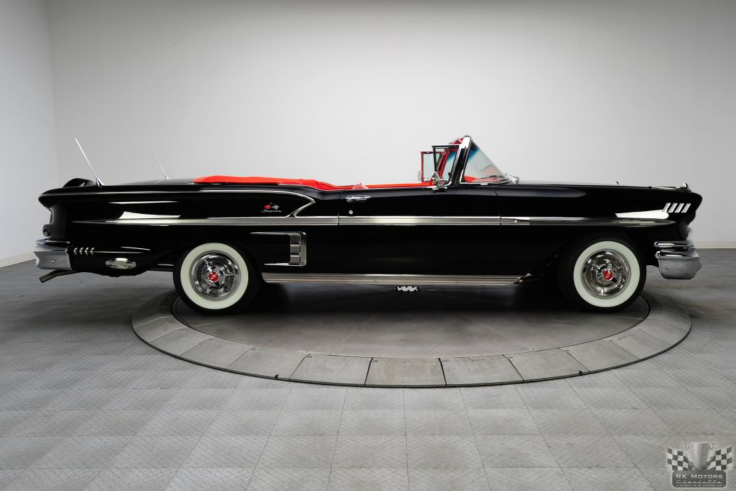 1958 CHEVROLET IMPALA CONVERTIBLE 348 TRI-POWER classic cars     t wallpaper