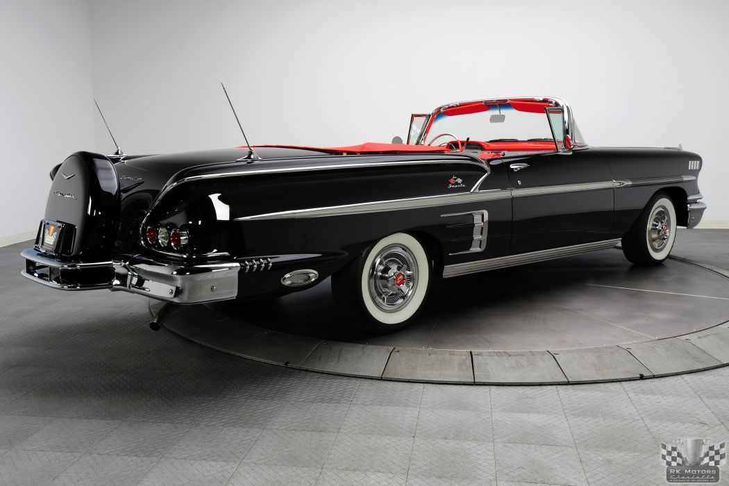 1958 CHEVROLET IMPALA CONVERTIBLE 348 TRI-POWER classic cars     w wallpaper