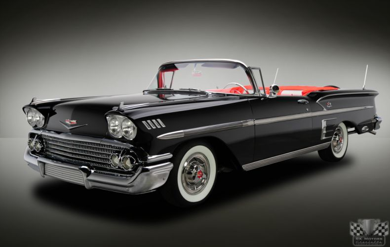 1958 CHEVROLET IMPALA CONVERTIBLE 348 TRI-POWER classic cars wallpaper