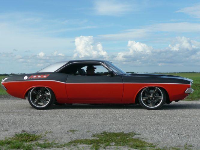 1972 Dodge Challenger hot rod custom classic cars d_JPG wallpaper
