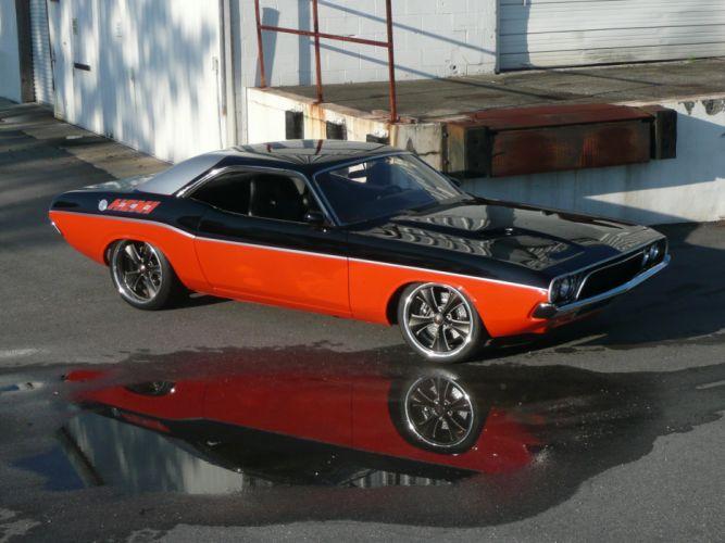 1972 Dodge Challenger hot rod custom classic cars_JPG wallpaper