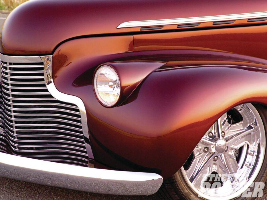 1940 Chevrolet Sedan retro classic cars hot rod custom lowrider wheel headlight wallpaper