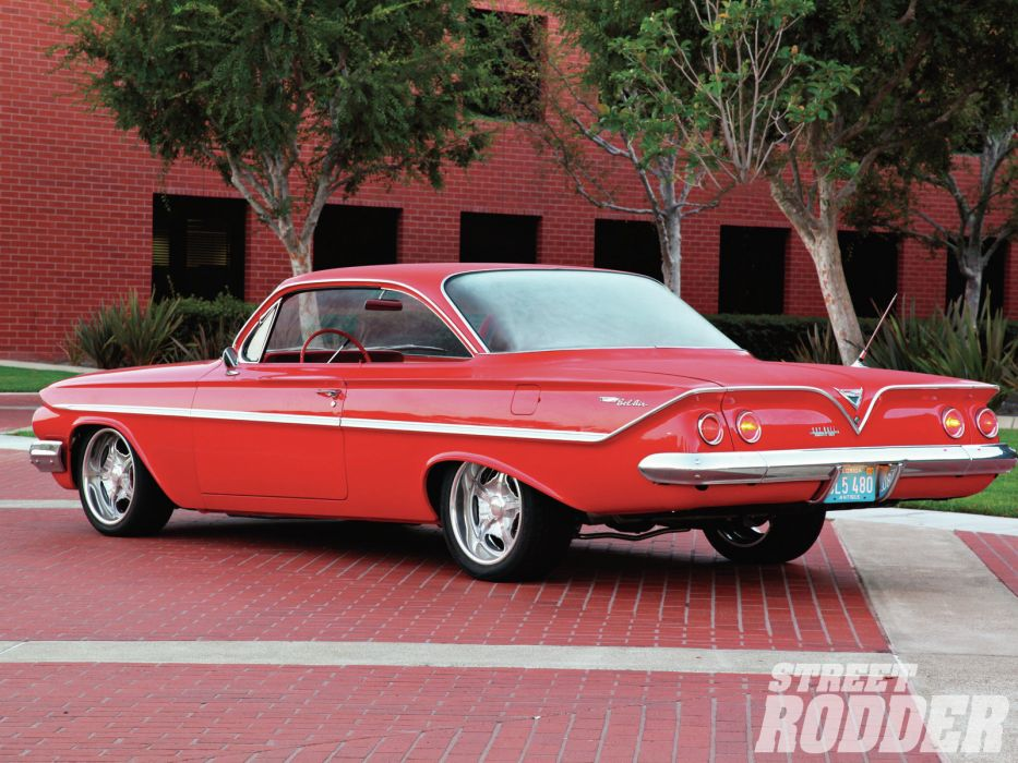 1961 Chevrolet Bel Air Sport Coupe hot rod classic cars muscle      q wallpaper