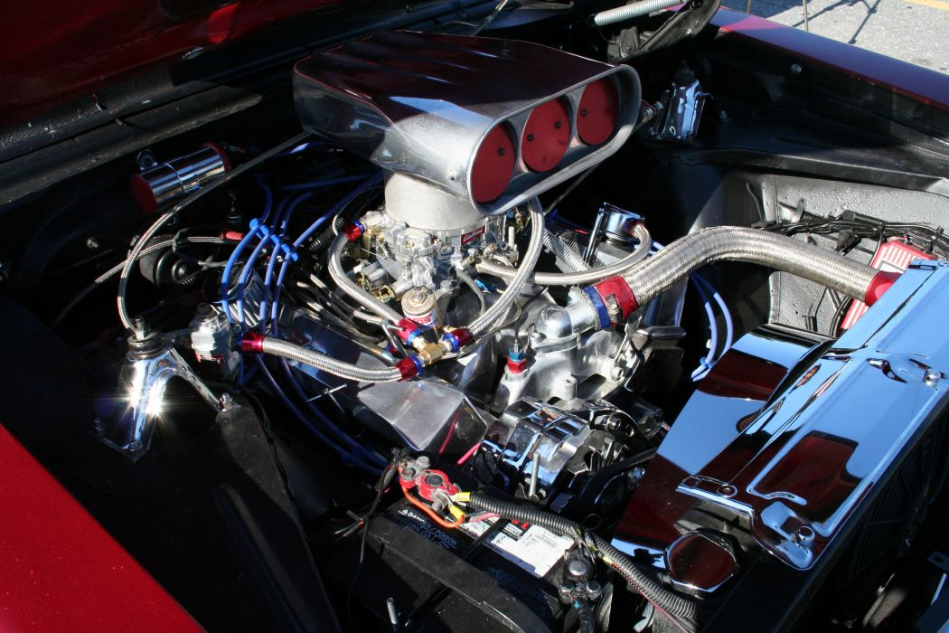 1966 Chevy II muscle cars hot rod engine_JPG wallpaper