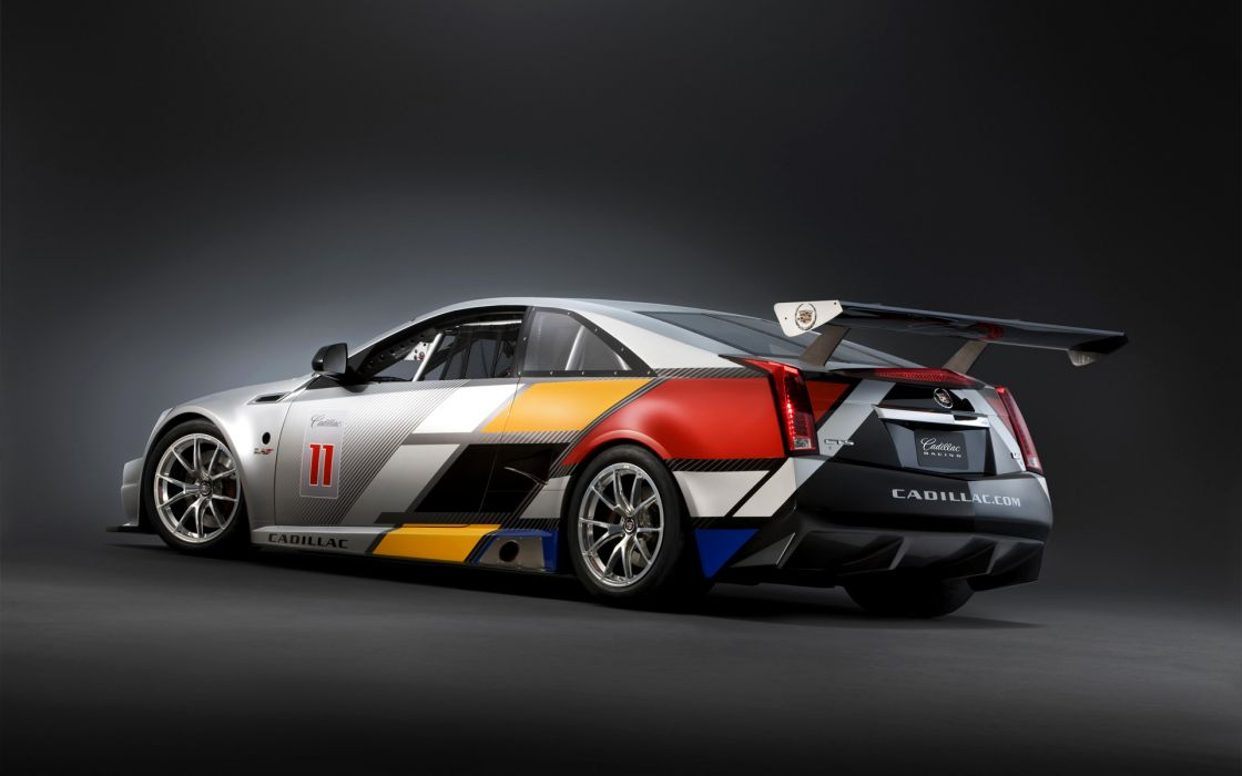 2011 Cadillac CTS-V Coupe Racecar race cars     q wallpaper