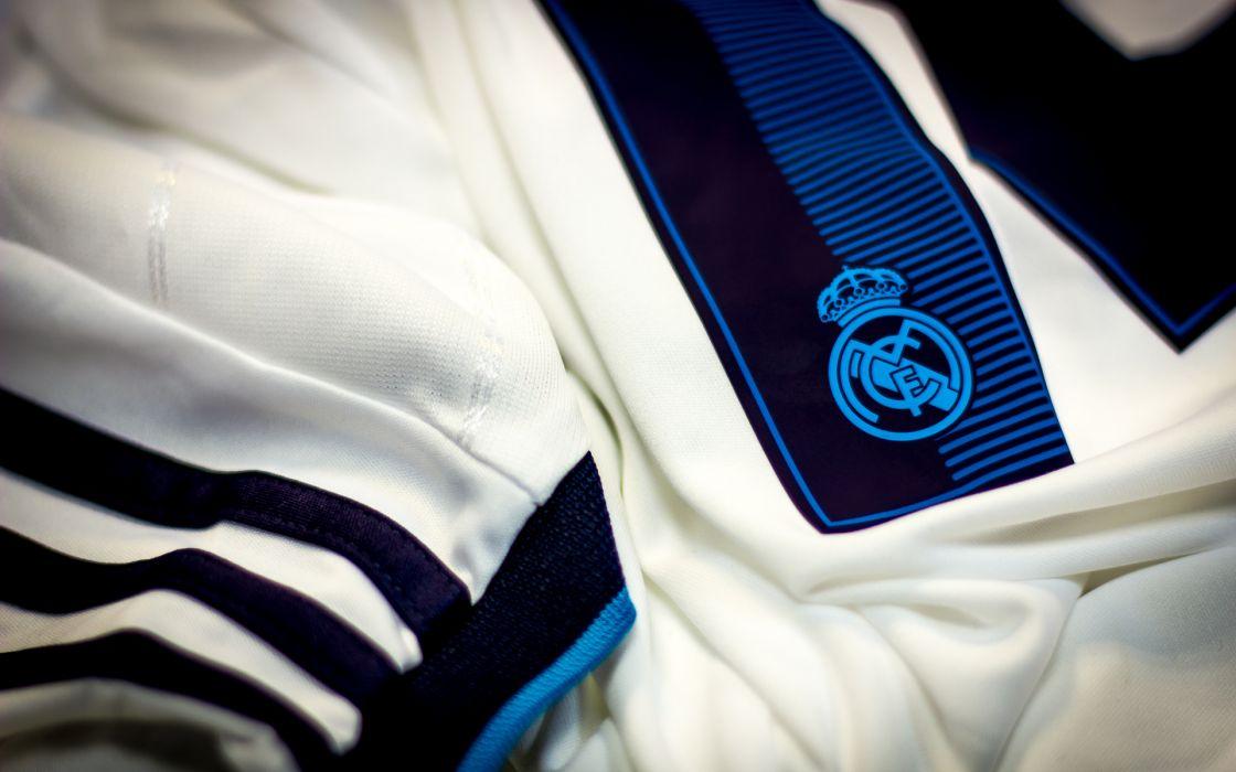 Kit adidas Real Madrid shape football soccer logo text clothes wallpaper