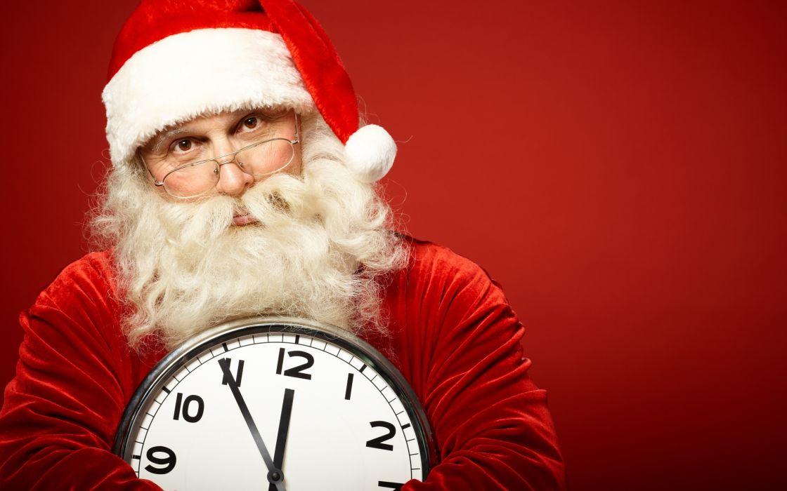 watch Santa Claus christmas clock humor wallpaper