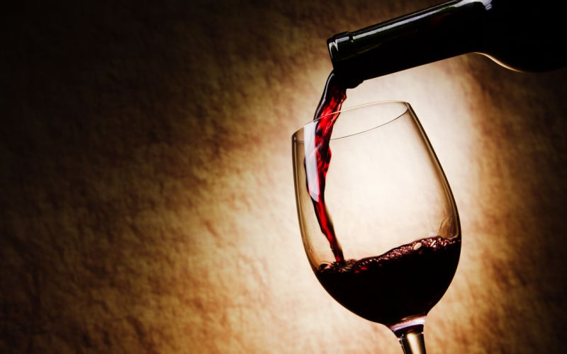 wine glass bottle pour red wallpaper