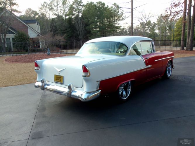 1955 CHEVROLET BEL AIR 350CI 4-SPEED AUTO hot rod classic cars r wallpaper