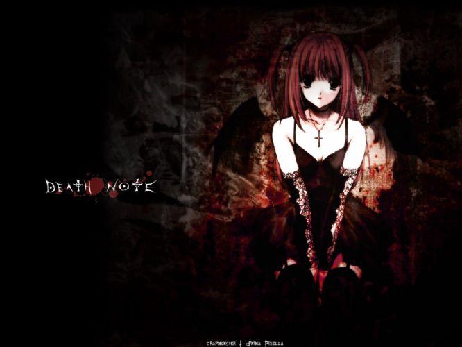 amane misa black dark death note goth-loli gothic suzuhira hiro wallpaper