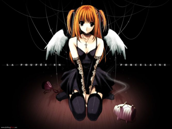 amane misa black death note suzuhira hiro wings wallpaper