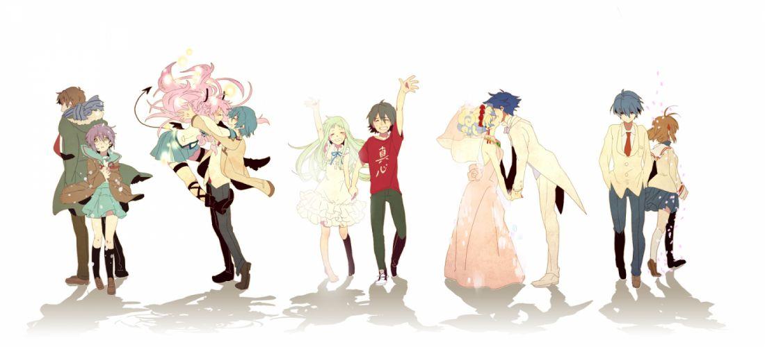 angel beats! clannad crossover group hinata hideki honma meiko kyon nagato yuki nia teppelin okazaki tomoya simon takumi (scya) white yadomi jinta wallpaper