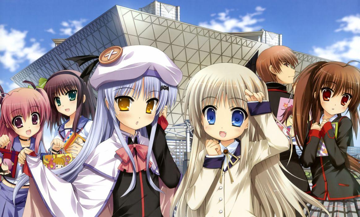 angel beats! cosplay crossover fujima takuya hat little busters! nakamura yuri natsume kyosuke natsume rin noumi kudryavka seifuku yui (angel beats!) wallpaper