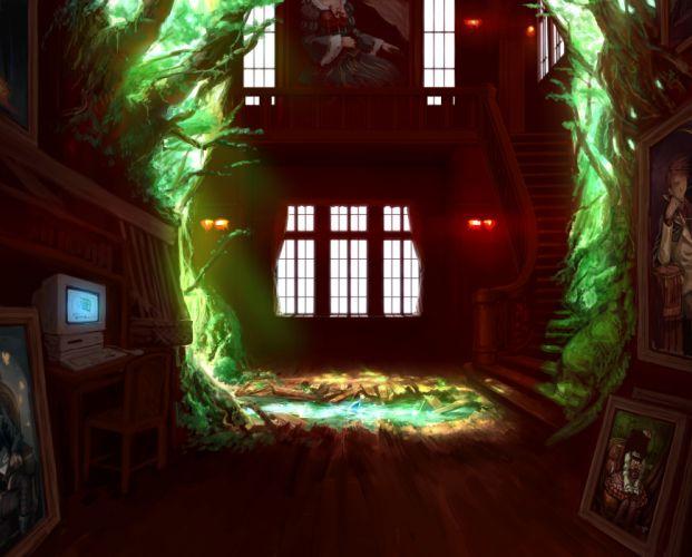 beatrice computer furudo erika lain (artist) umineko no naku koro ni ushiromiya battler water wallpaper