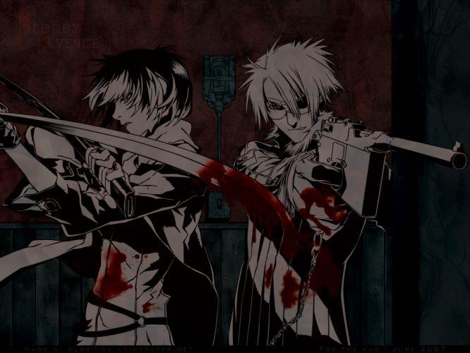 blood dogs bullets & carnage fuyumine naoto gun haine rammsteiner katana miwa shirow sword weapon wallpaper