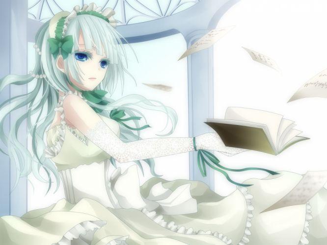 blue eyes book claire bernardus dress umineko no naku koro ni wallpaper