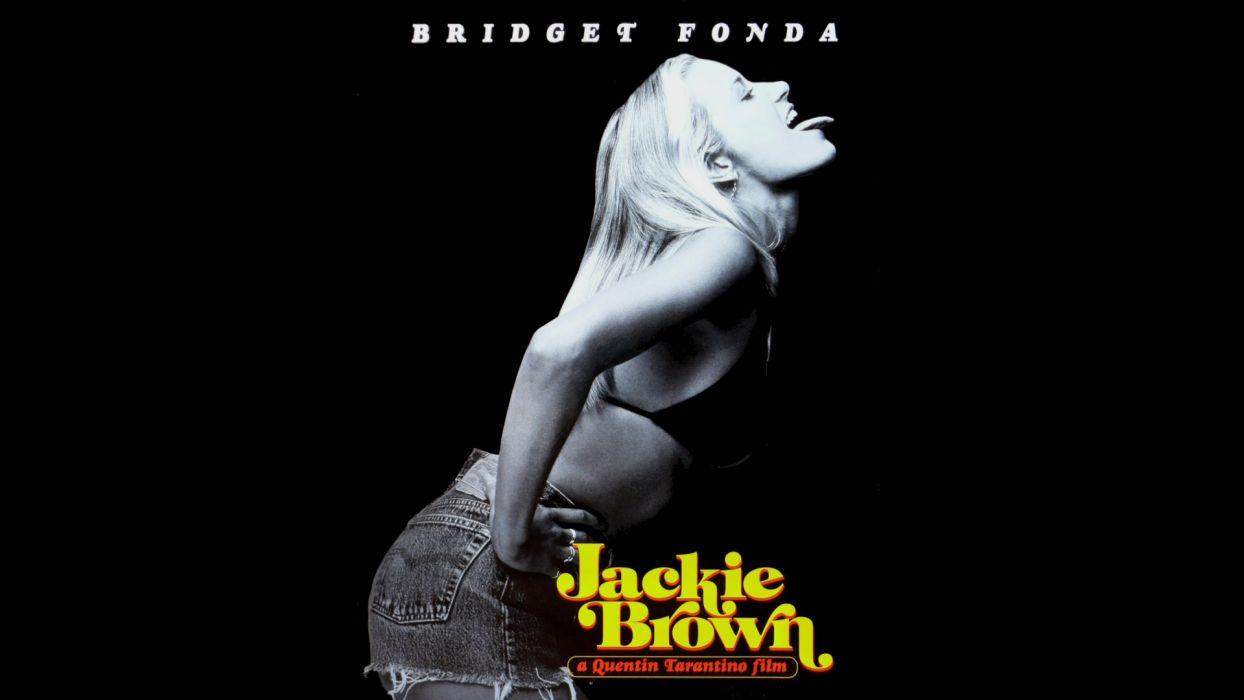 Bridget Fonda Blonde Black Jackie Brown movies women females wallpaper