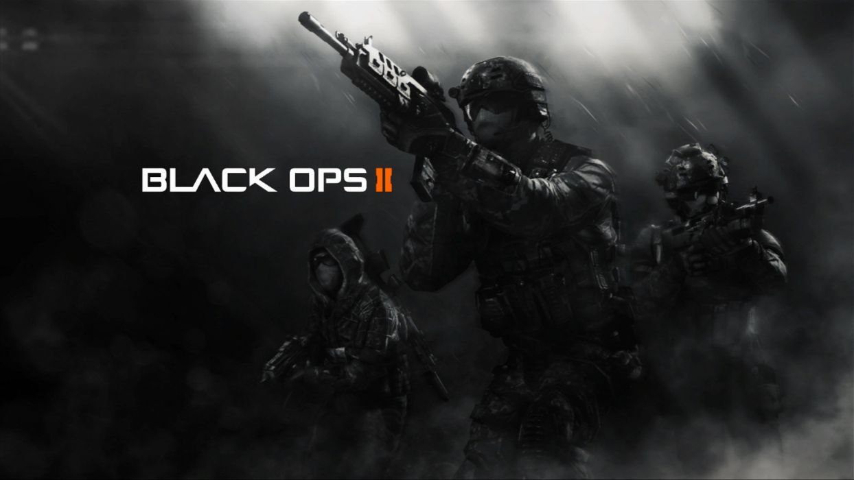 call of duty black ops 2 cod soldiers weapons future shooter wallpaper