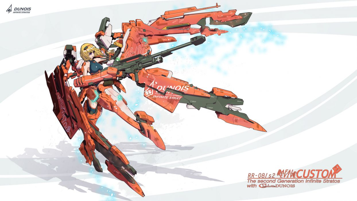 charlotte dunois gun infinite stratos mecha nenchi weapon wallpaper