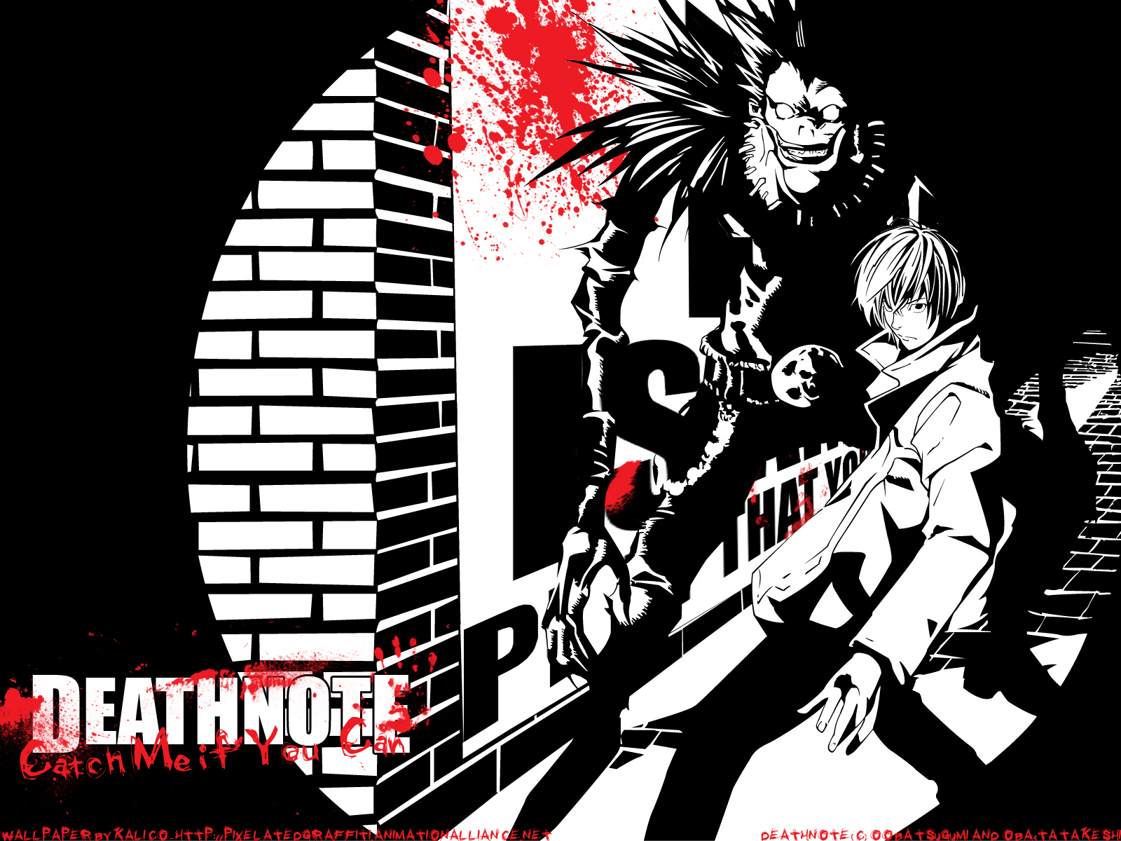 Death note ryuk yagami light wallpaper | 1600x1200 | 72386 ...